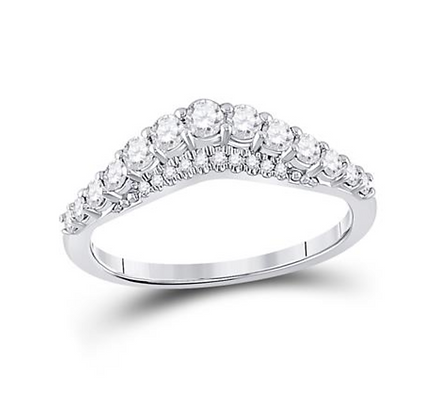 0.50 CTW Diamond Curved Band