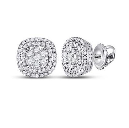 1.00 CTW Diamond Composite Stud Earrings