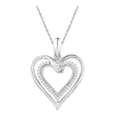 0.10 CTW Diamond Heart Pendant