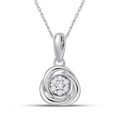 0.05 CTW Diamond Composite Pendant
