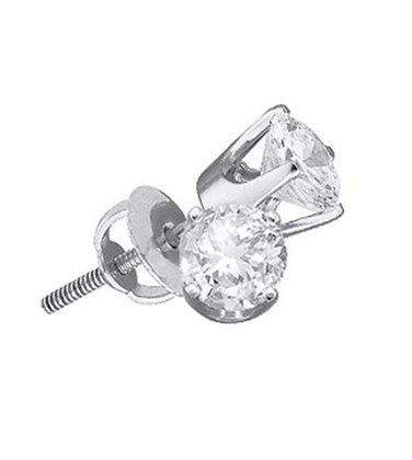 Certified 0.40 CTW Round Solitaire Stud Earrings