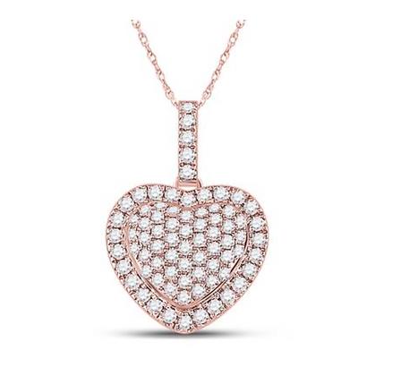 1.25 CTW Diamond Heart Pendant