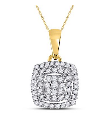 0.15 CTW Diamond Composite Pendant