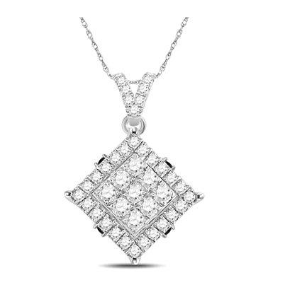 0.55 CTW Diamond Composite Pendant
