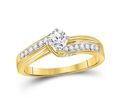 0.50 CTW Certified Diamond Ring