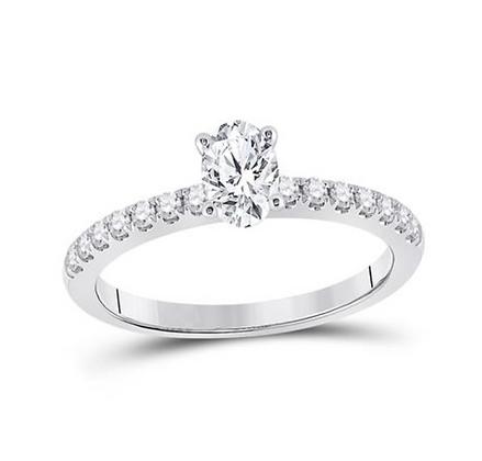 0.75 CTW Certified Diamond Ring