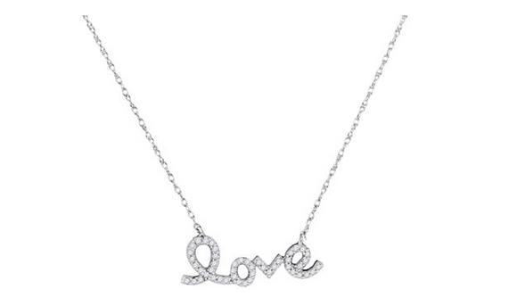 "0.15  CTW Diamond ""Love"" Pendant"