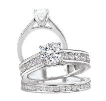Bridal Set 14K Diamond Classic Round Center