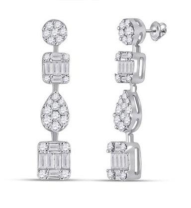 1.33 CTW Diamond Dangling Earrings