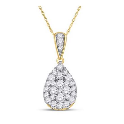0.50 CTW Diamond Composite Pendant