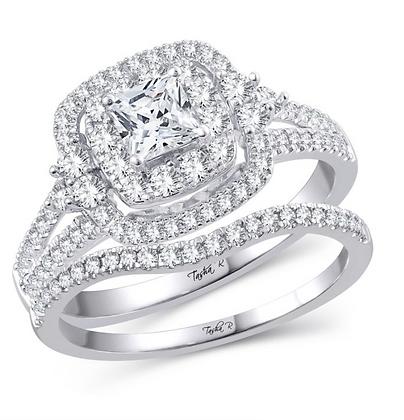1.00 CTW (0.33 CTR) Diamond Bridal Set in 14KT Gold