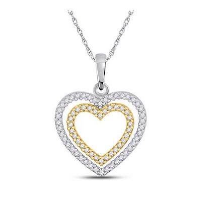 0.25 CTW Diamond Heart Pendant