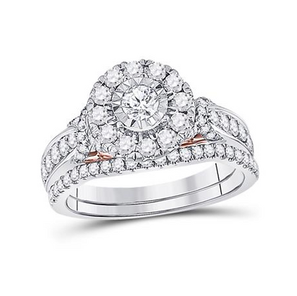 1.00 CTW Certified Diamond Bridal Set