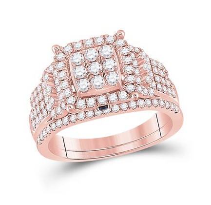 1.00 CTW Diamond Bridal Set