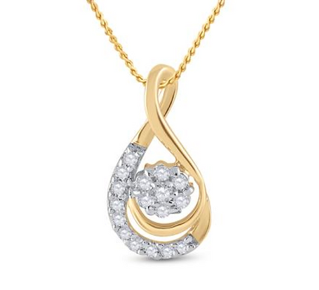 0.10 CTW Diamond Composite Pendant