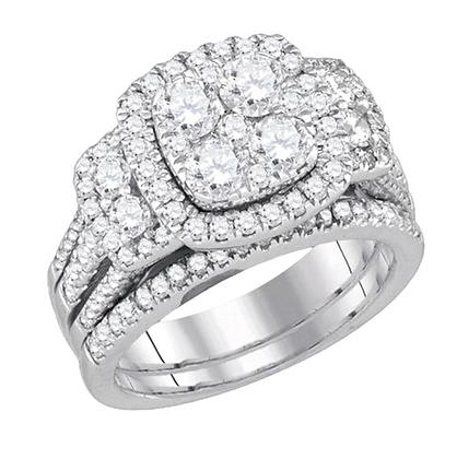 3.00 CTW Diamond Bridal Set