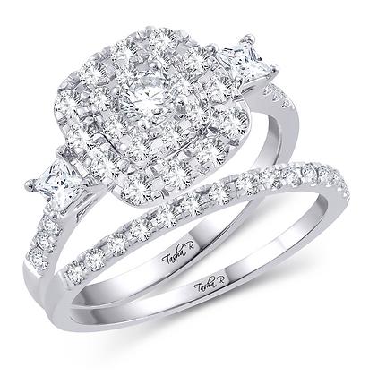 1.00 CTW (0.22 CTR) Diamond Tasha R Bridal Set