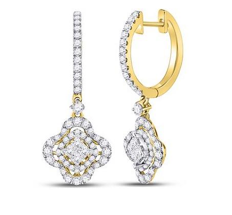 1.00 CTW Diamond Dangling Earrings
