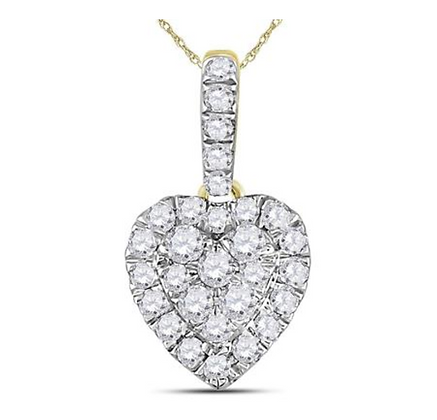 0.35 CTW Diamond Heart Pendant