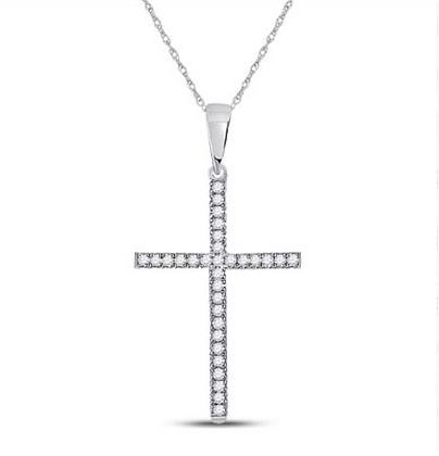 0.10 CTW Diamond Cross Pendant