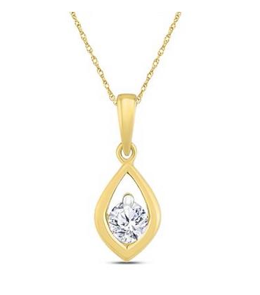 0.15 CTW Diamond Solitiare Pendant