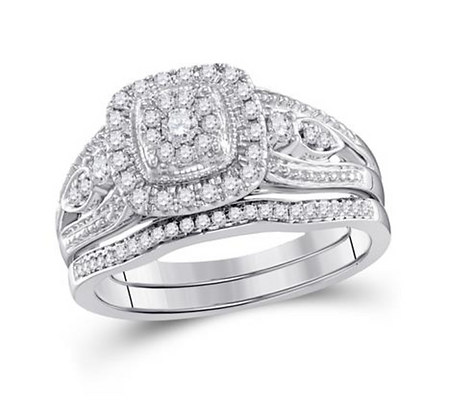 0.40 CTW Diamond Bridal Set