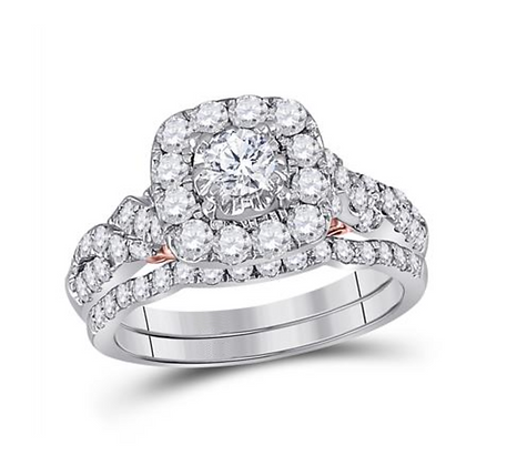 1.50 CTW Certified Diamond Bridal Set