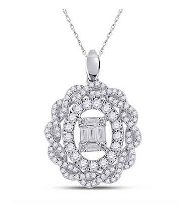 1.00 CTW Diamond Composite Pendant