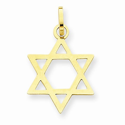 14K Star of David Pendant