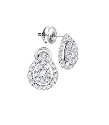 0.75 CTW Diamond Composite Stud Earrings