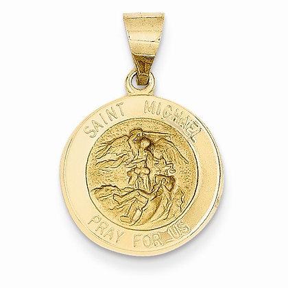 14K St. Michael Medal Pendant