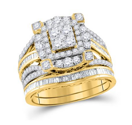 1.75 CTW Diamond Bridal Set