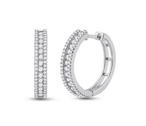 0.90 CTW Diamond Hoop Earrings