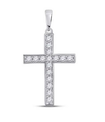 0.35 CTW Diamond Cross Pendant