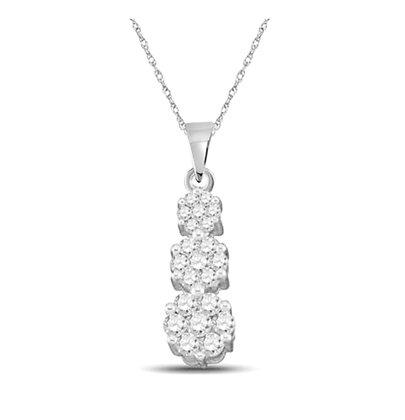 0.25 CTW Diamond Journey Pendant