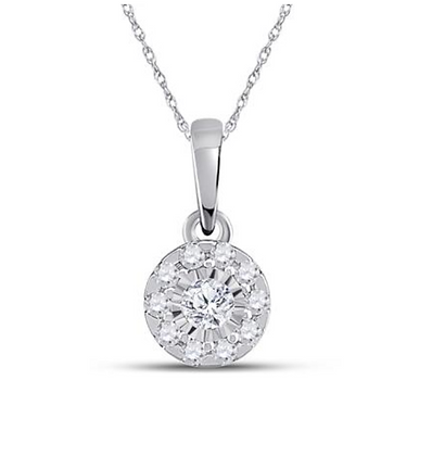 0.15 CTW Diamond Composite Pendant