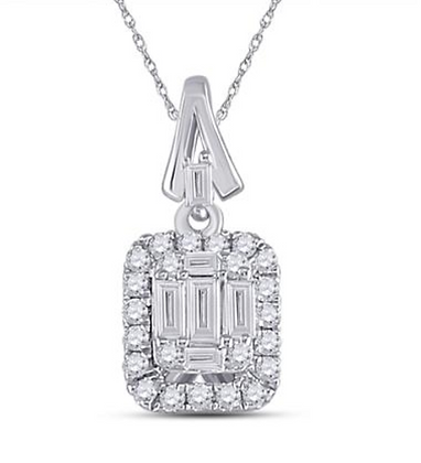 0.25 CTW Diamond Composite Pendant