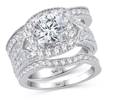 2.73 CTW (1.00 CTR) Diamond Tasha R Bridal Set