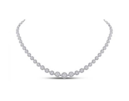 4.90 CTW Diamond Composite Graduated Necklaces