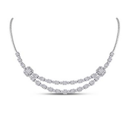 4.90 CTW Diamond Composite Necklaces