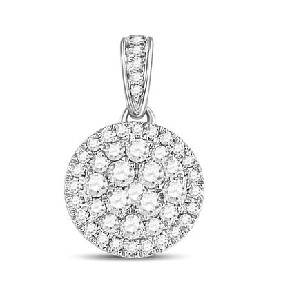 0.50 CTW Diamond Composite Pendant
