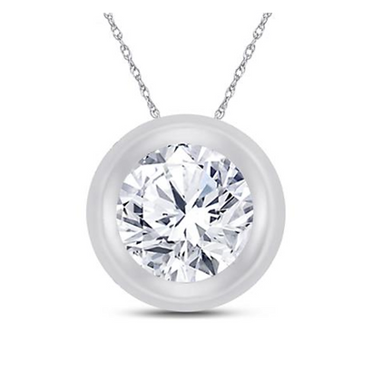 0.25 CTW Diamond Solitiare Pendant