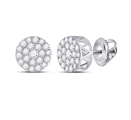 1.00 CTW Diamond Composite Stud Earrings