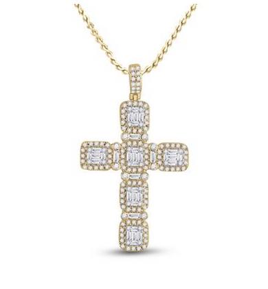 2.00 CTW Diamond Cross Pendant