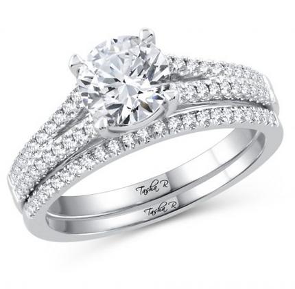 2.12 CTW (1.00 CTR) Diamond Tasha R Bridal Set