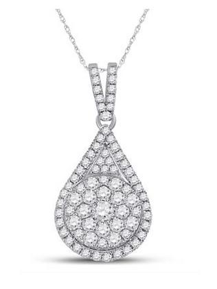 1.00 CTW Diamond Composite Pendant