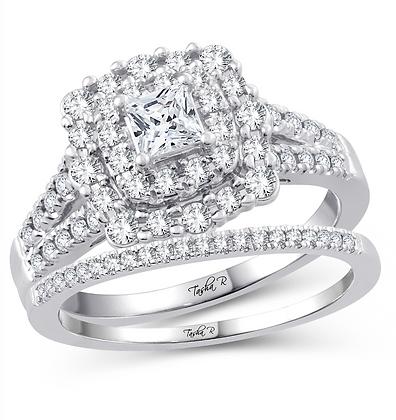 1.00 CTW (0.33 CTR) Diamond Tasha R Bridal Set