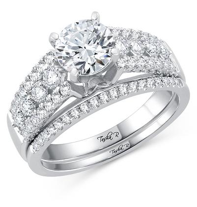 1.70 CTW (1.00 CTR) Diamond Tasha R Bridal Set