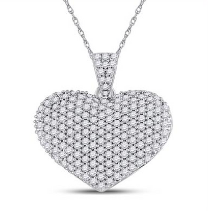 1.00 CTW Diamond Heart Pendant