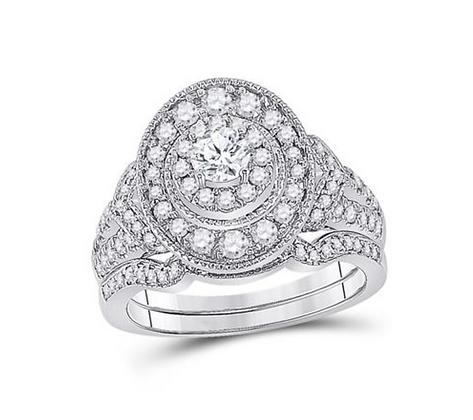 1.00 CTW Certified Diamond Bridal Set
